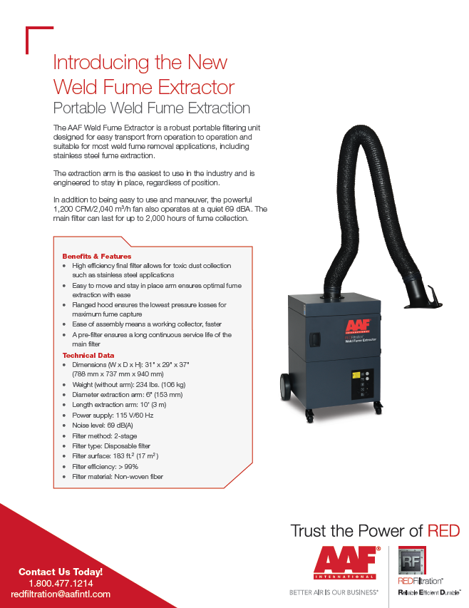 Weld Fume Extractor Benefits and Features
