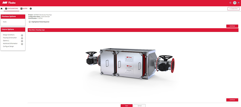 Equipment Configurator - Filter Design Software