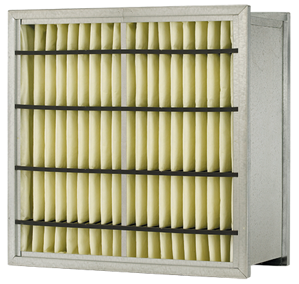 VariCel RF,extended surface rigid air filter,Variable Air Volume,vav,Layered synthetic media,maximum dust holding capacity,meltblown synthetic,vari cel rf,rigid filter,rigid,box filter,box