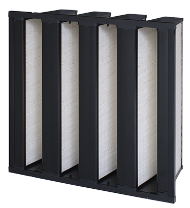 VariCel VXL,8-panel high-efficiency supported pleat filter,maximum dust holding capacity,antimicrobial,Dual-Density Media,sturdy construction,thermoplastic separators,low resistance,varicelvxl,vari cel vxl,rigid,rigid filter,box,box filter