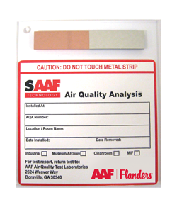 SAAF reactivity monitoring coupon