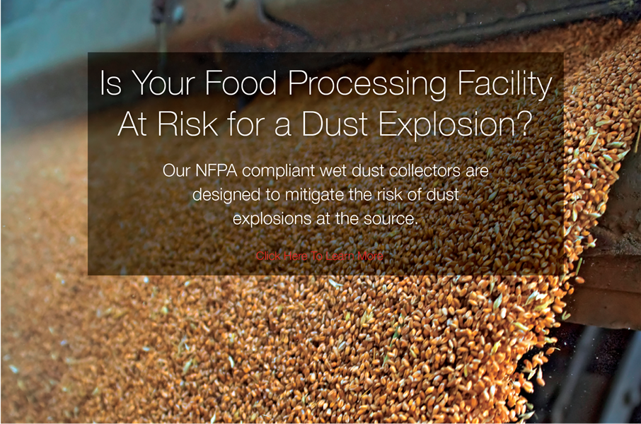 Wet Dust Collectors for Food Processing